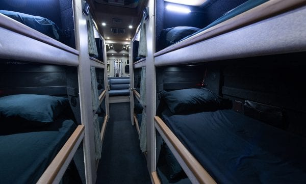 12 bunk tour bus rental