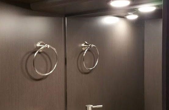 Aeron entertainer coach bathroom