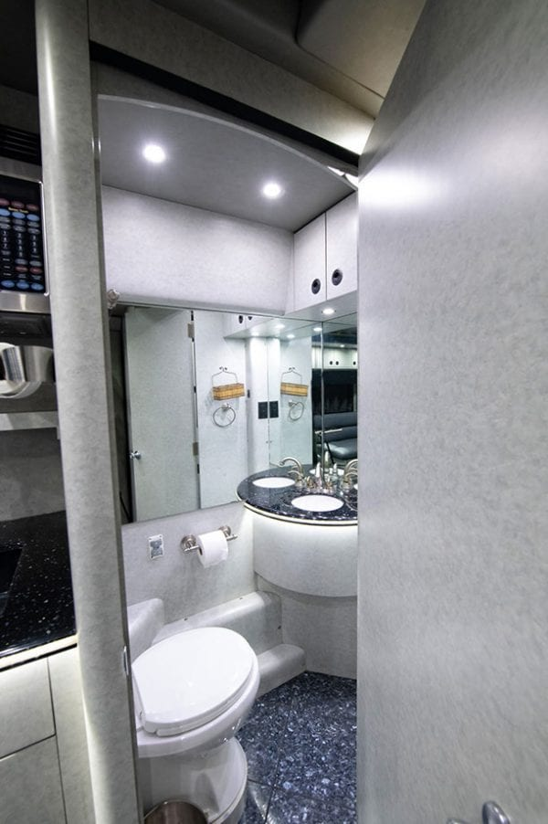 Tour bus bathroom