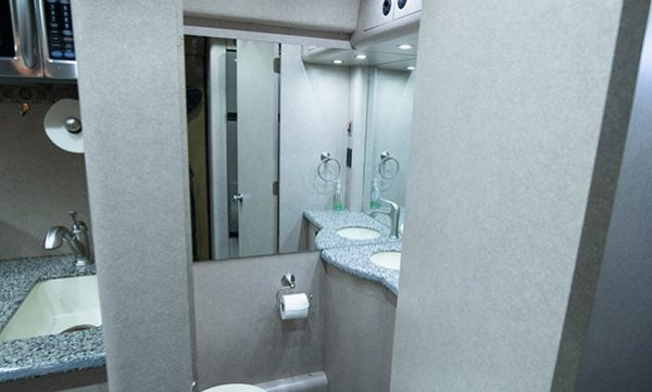 Deja Vu tour bus bathroom