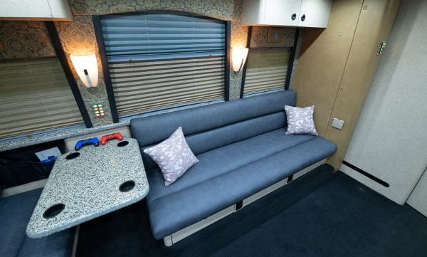 Deja Vu tour bus lounge
