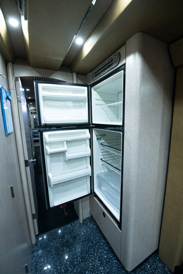 Deja Vu tour bus refrigerator