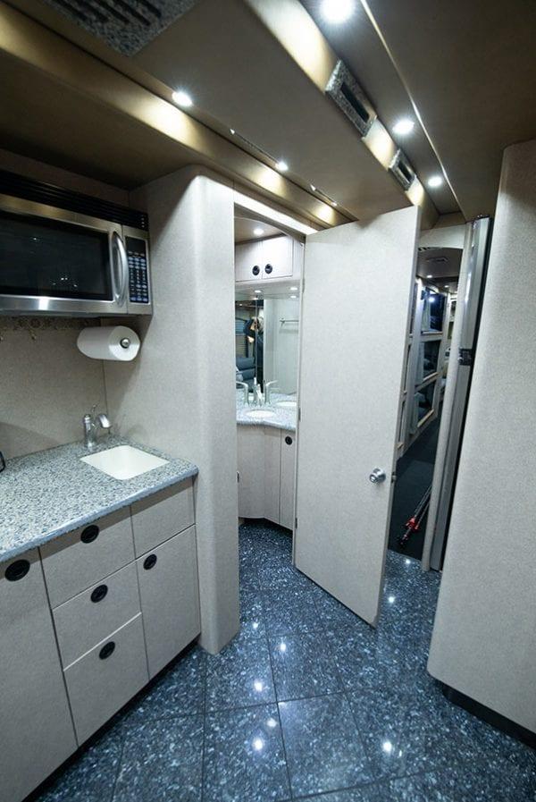 Deja Vu tour bus restroom