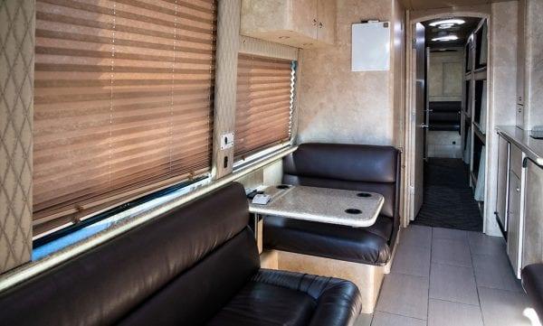 Maverick tour bus front lounge