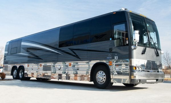 Maya entertainer tour bus