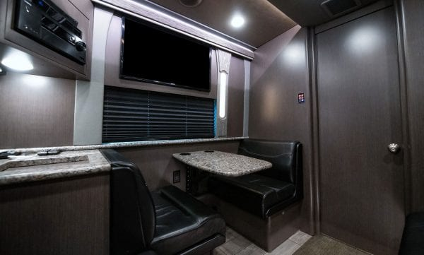 Tour bus lounge