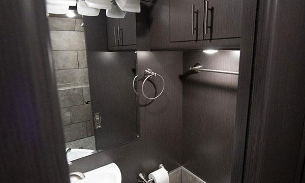 Tour bus restroom