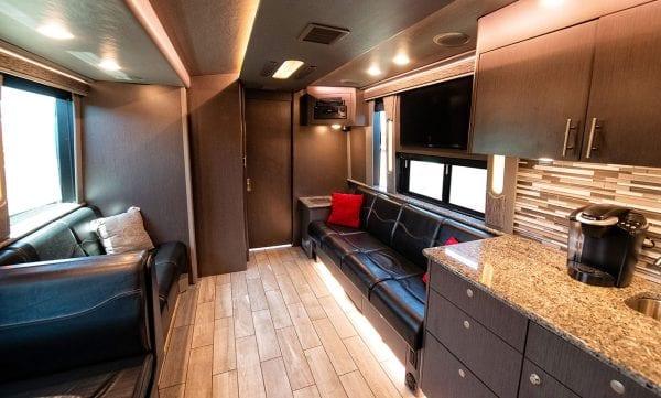 Entertainer tour bus lounge
