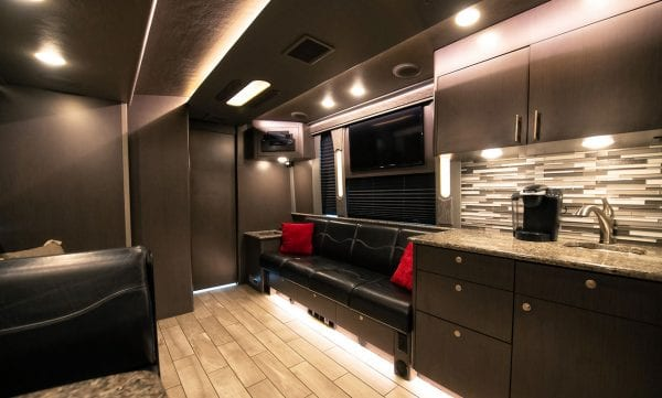 Entertainer tour bus seating