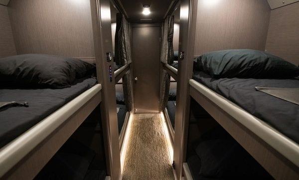Tour bus bunks