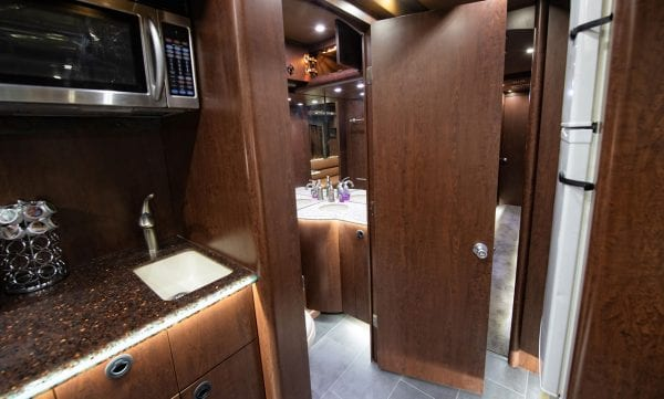 Papa tour bus bathroom