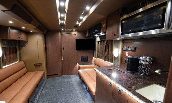 Tour bus lounge