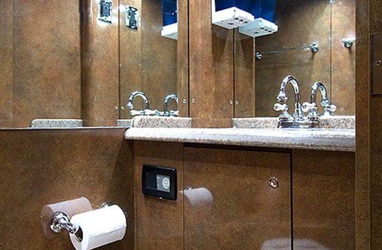 Sidney entertainer coach bathroom