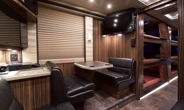 Wisdom tour bus dinette