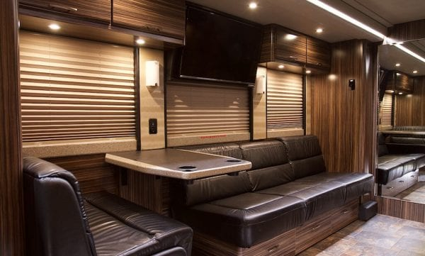 Wisdom tour bus lounge