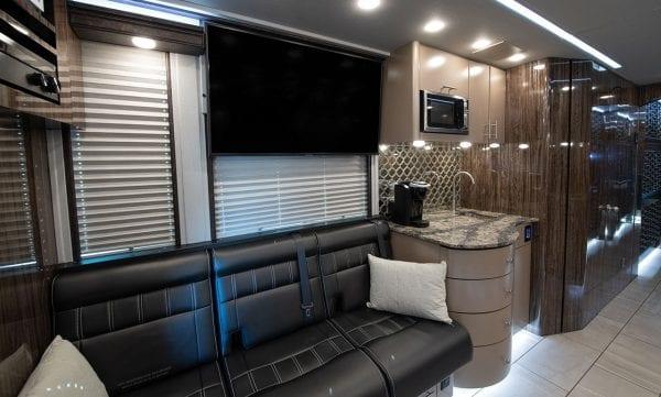 Tour bus kitchenette
