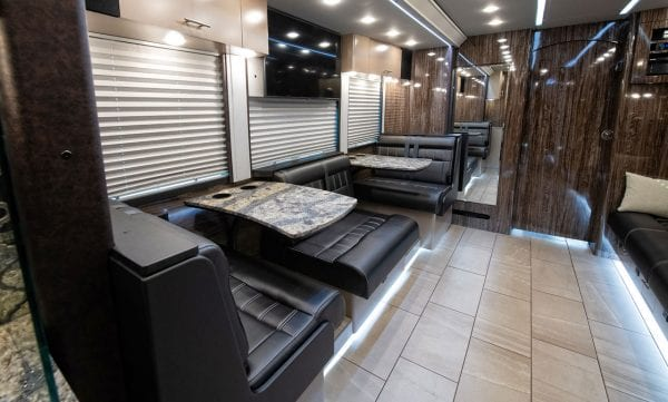 Entertainer tour bus lounge