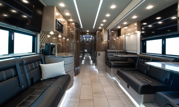 Entertainer tour bus interior