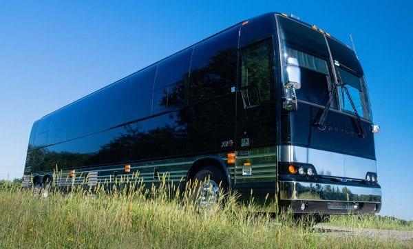 Shocker entertainer tour bus