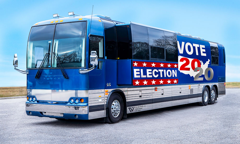 political tour bus