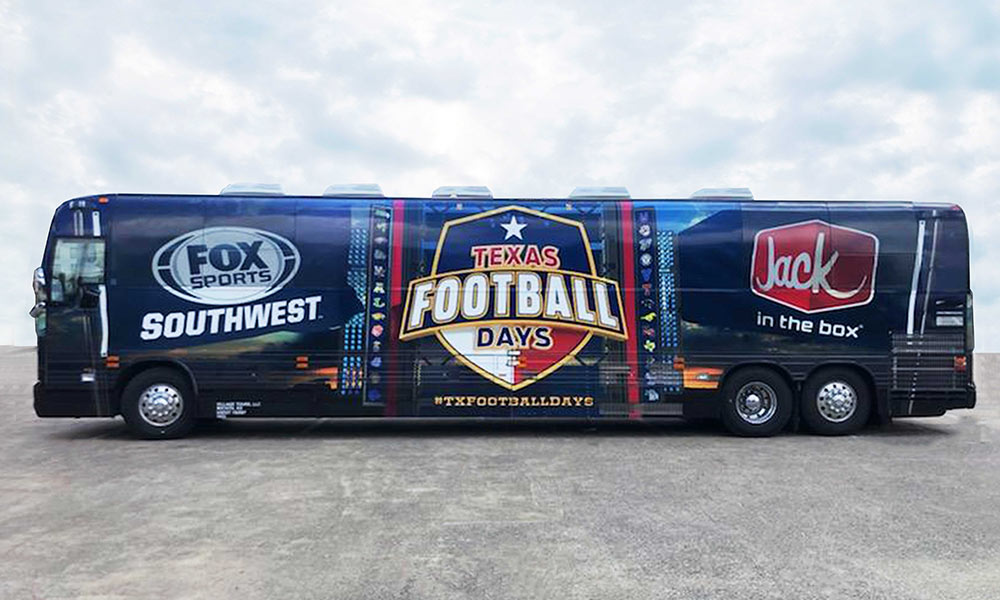 FOX media tour bus
