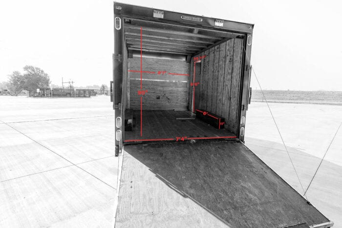 trailer interior dimensions