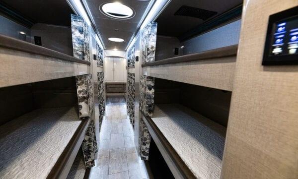 Tin Man tour bus bunks