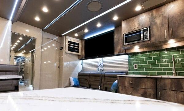 Tin Man tour bus lounge
