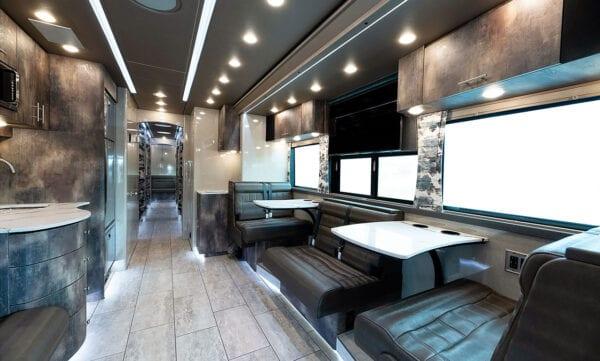 Tin Man entertainer bus lounge